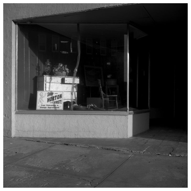 horton, kansas storefront - empty sidewalk