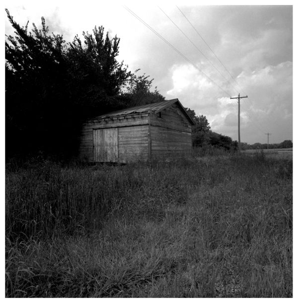 old wooden shed - roadside, wathena, ks