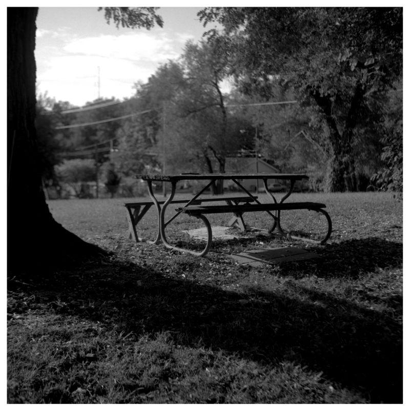 picnic table in a kansas city, kansas park