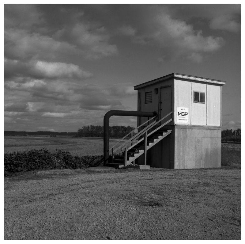 industrial building in rural missouri field