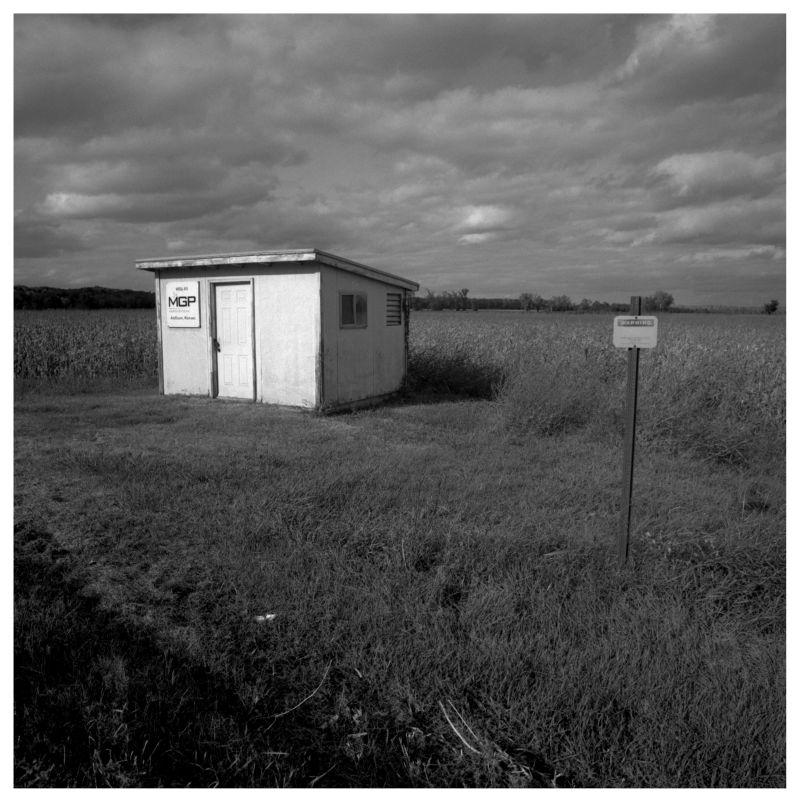 shed in a field in winthrop, missouri