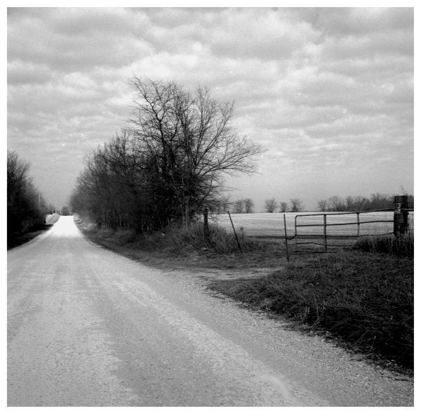 gravel road in rural missouri