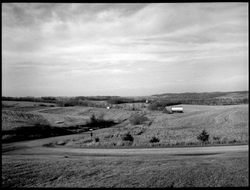 wide view of farmland in doniphan county, ks