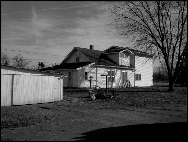 house and garage in sparks, kansas - photo