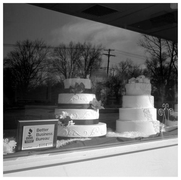 cake store window - overland park, ks