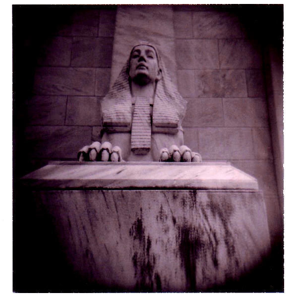 sphinx statue in a kansas city cemetery - photo
