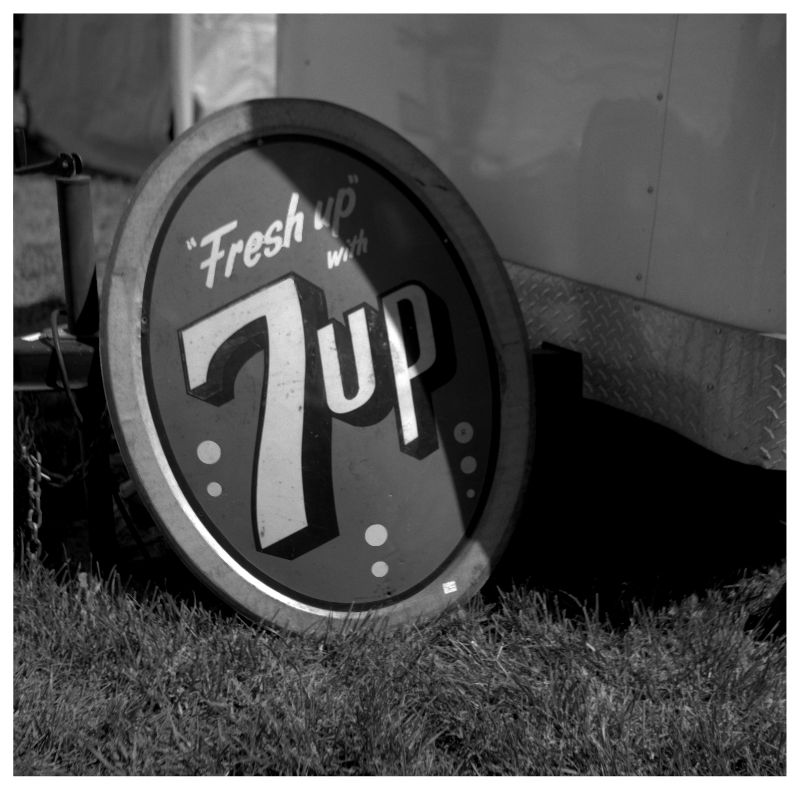 7-up sign for sale at sparks, kansas flea market