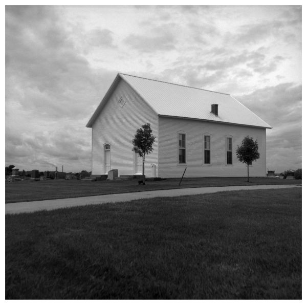mt. bethel church - platte co, mo - rolleiflex