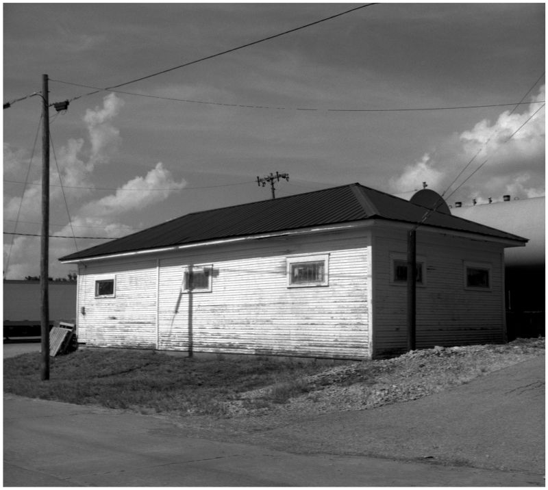 railroad shed, kansas - grant edwards photograph