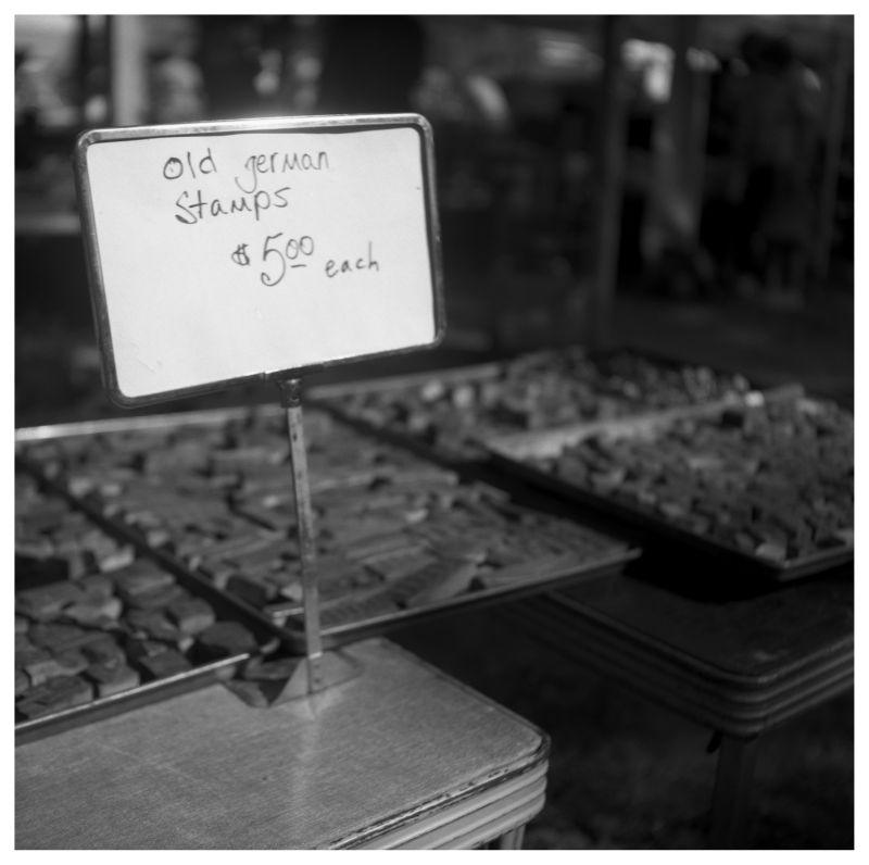 flea market table - grant edwards photograph