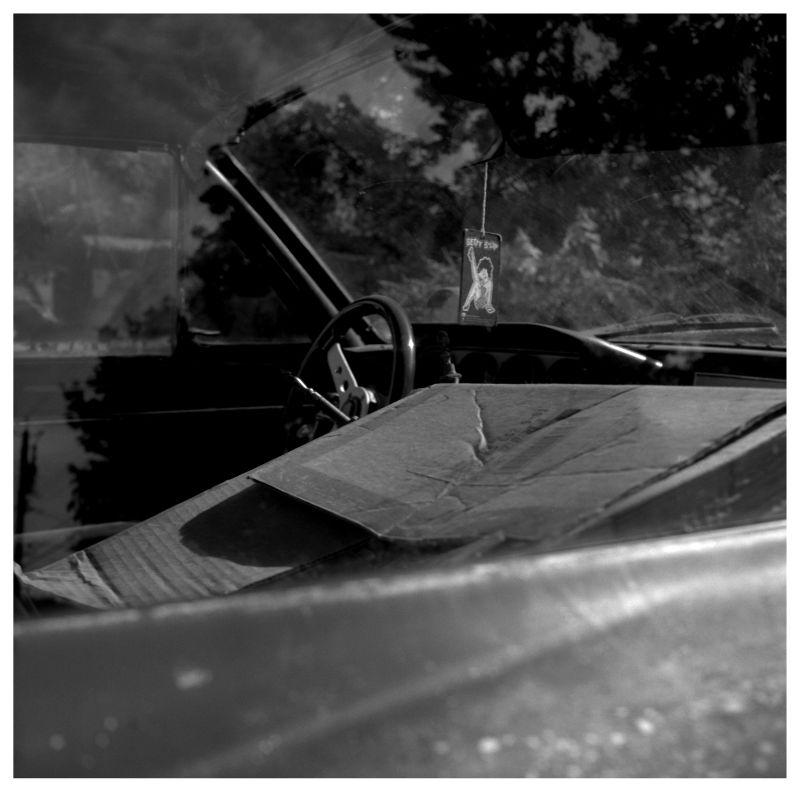 old car interior - grant edwards photograph