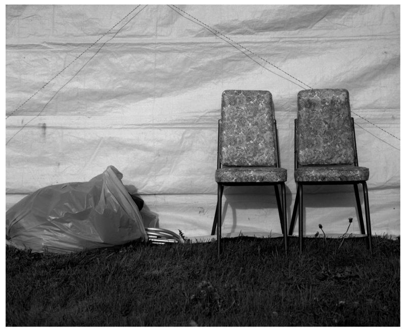 chairs at a flea market - grant edwards photograph