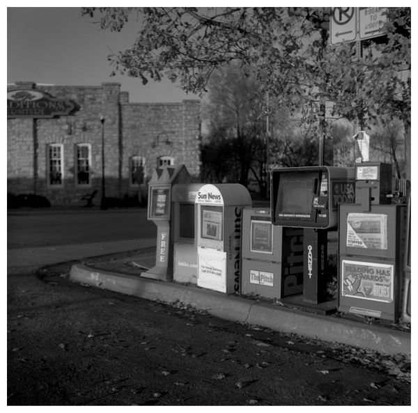 newspaper stands - grant edwards photography