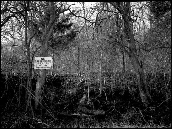 no trespassing sign - grant edwards photography