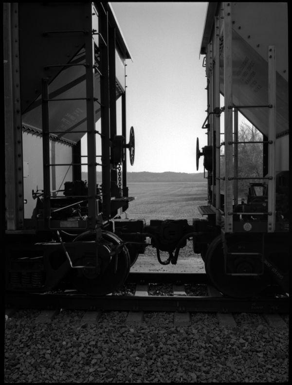 trains on track
