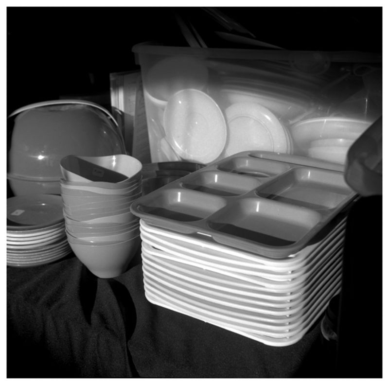 dishes at flea market - grant edwards photography