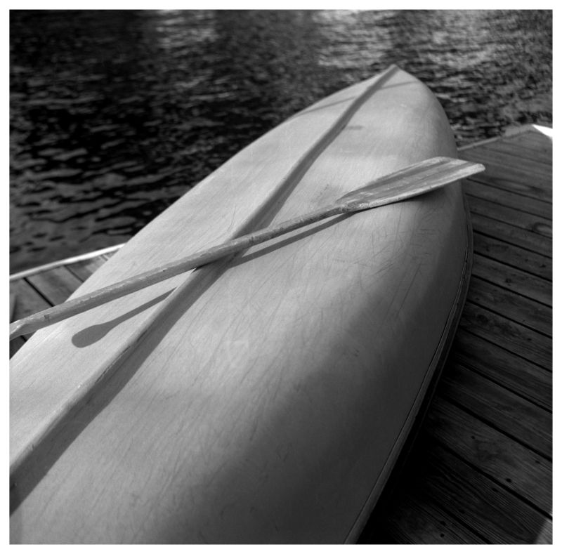 canoe on dock - grant edwards photography