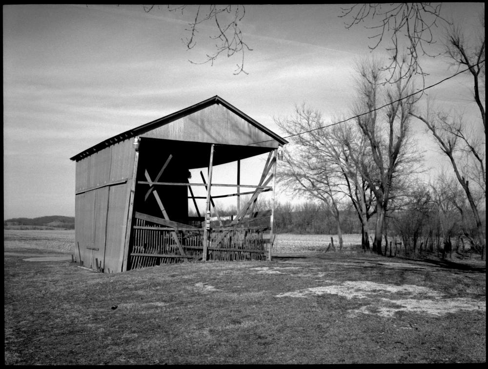 falling barn - grant edwards photography