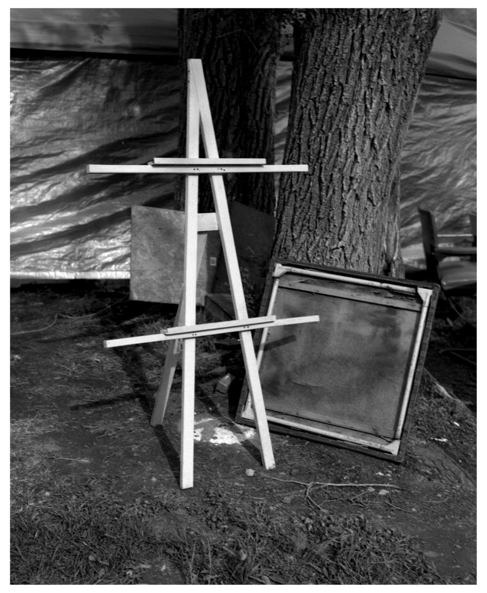 flea market easel - grant edwards photography