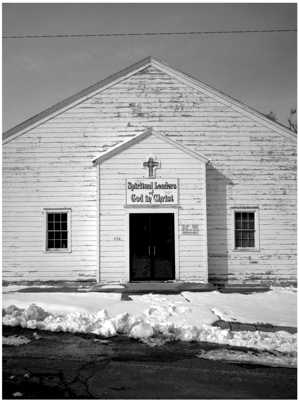 church in snow - grant edwards photography