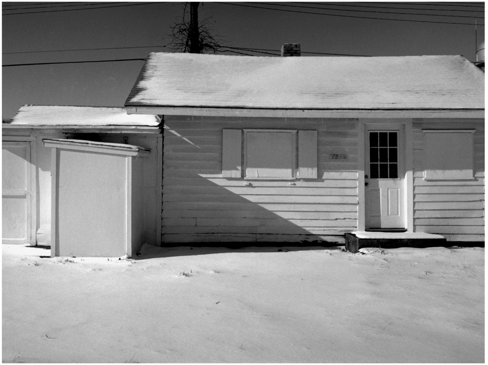 snowy garage - grant edwards photography