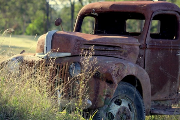 old truck, rusty, retired, abandoned