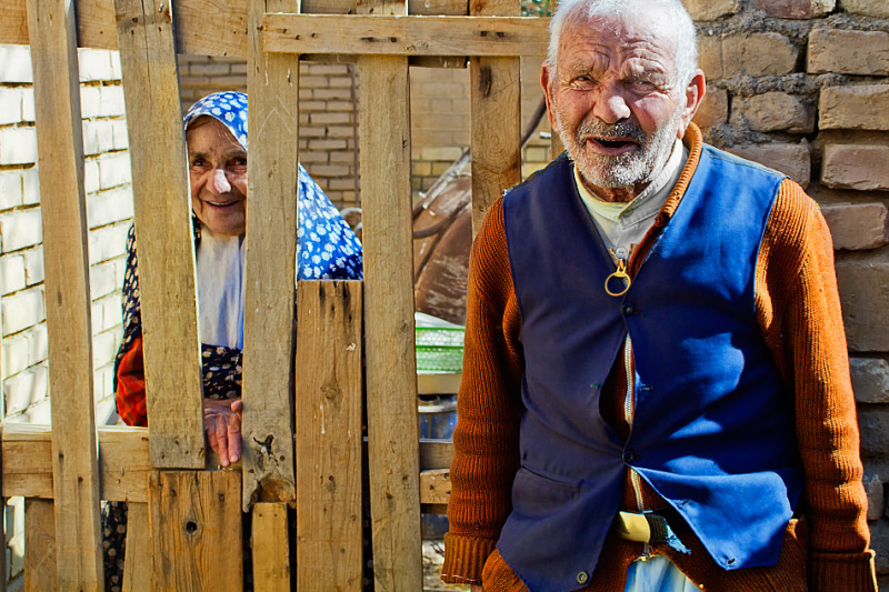 Old man with his Wife