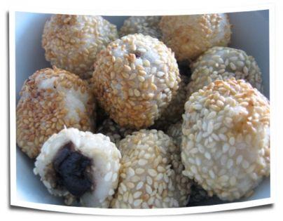 Homemade sesame balls