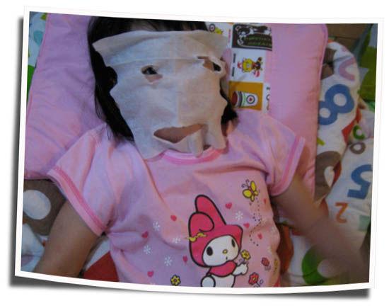 Her facial mask