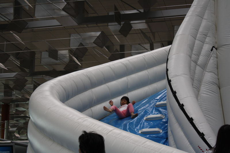 Bouncy castle at the airport