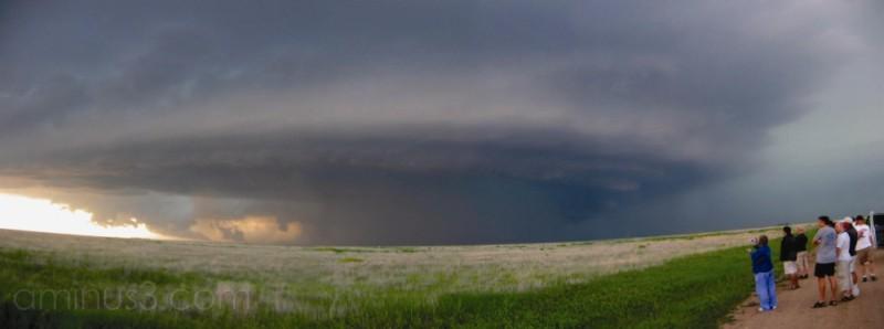 supercell storm near Guymon, OK.