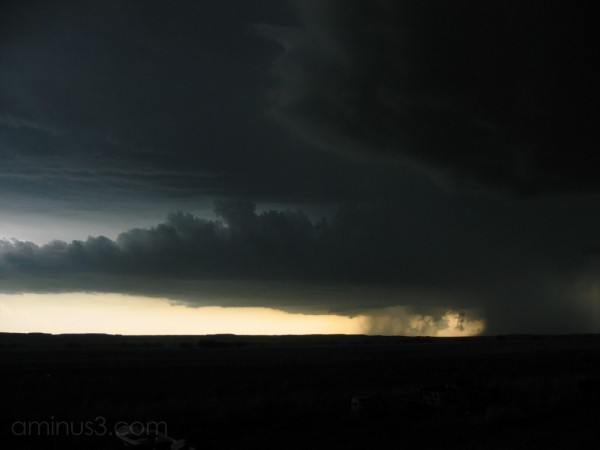Supercell storm in western Nebraska