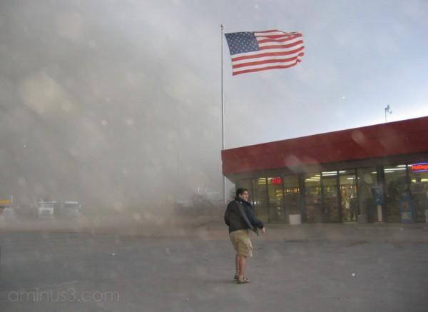 Dust storm in western Kansas