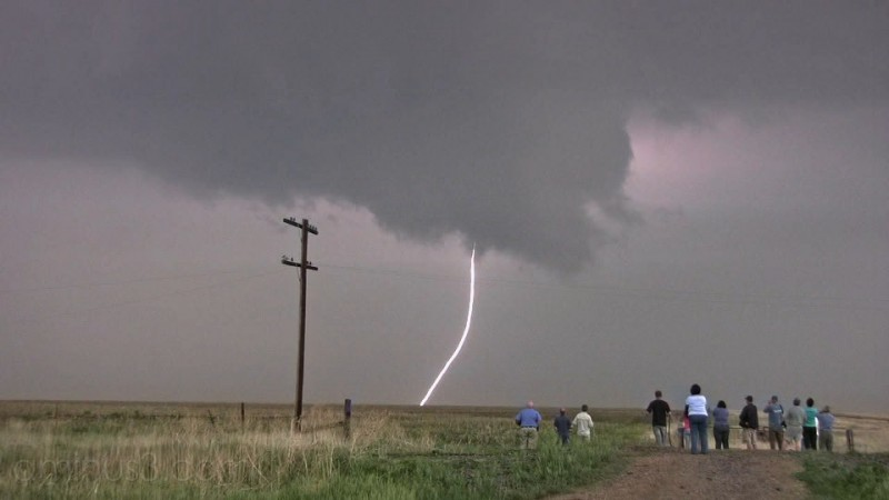 Lightning Strike from  Wall Cloud