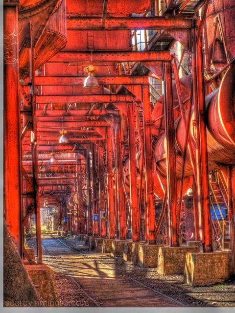 HDR image of  Sloss Furnaces