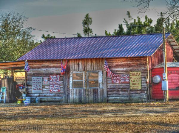 Political signs in rural Alabama