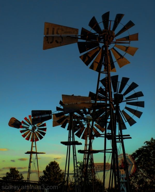 Antique Windmills Shattuck Oklahoma