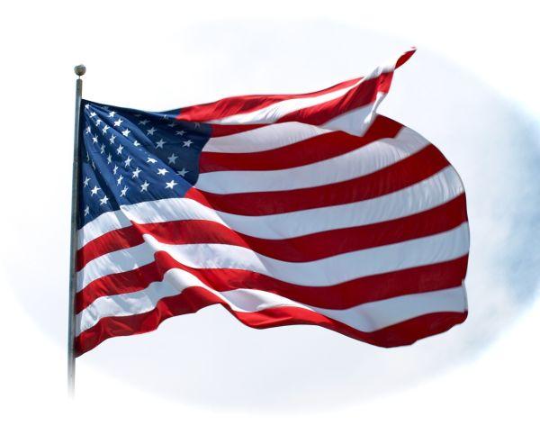 Amaerican Flag at Fairhope, Alabama Pier