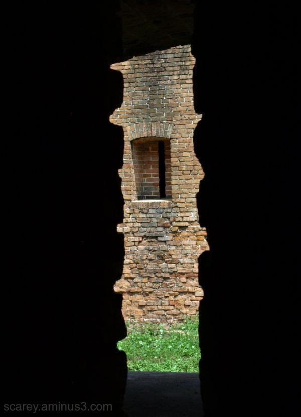 View through musket port Fort Barrancas Florida