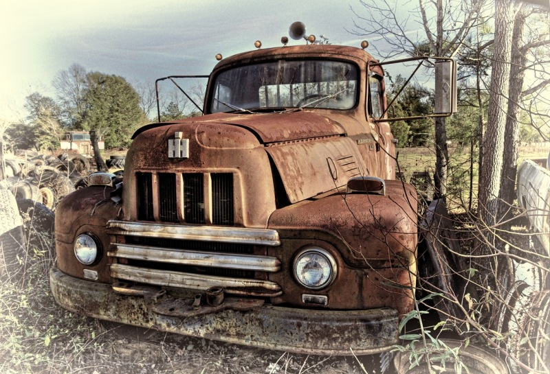 Abandoned Truck in Rural Alabama Field