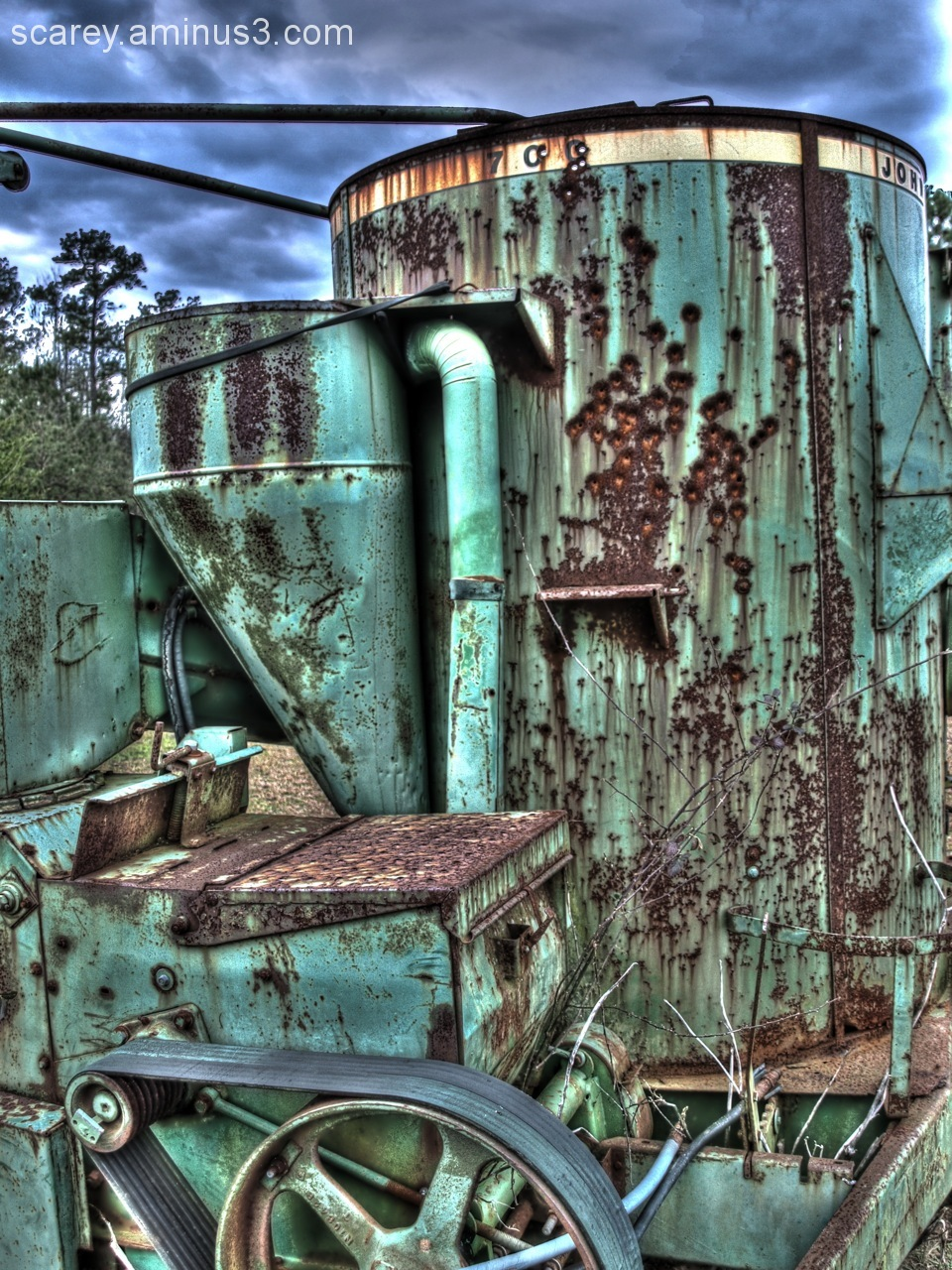 HDR Image Farm Equipment Hopper