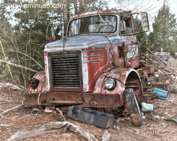 Abandoned Truck Cab Rural Alabama