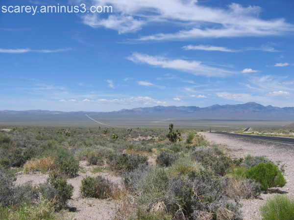 Road to Area 51 in the Nevada desert
