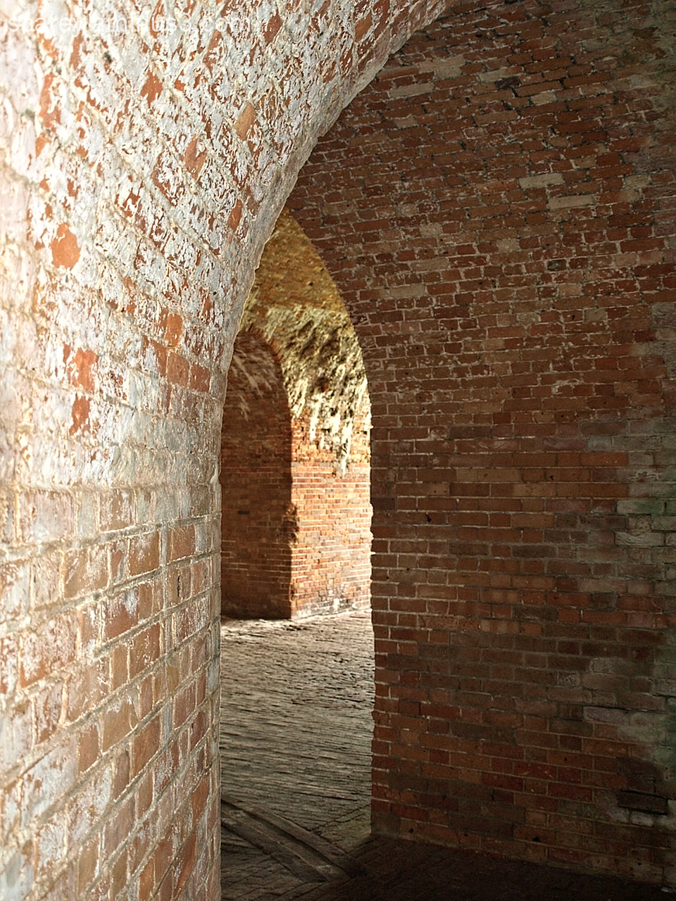 Inside of Fort Morgan, Alabama
