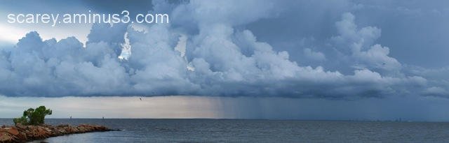 Thunderstorm over  Mobile Bay in Alabama