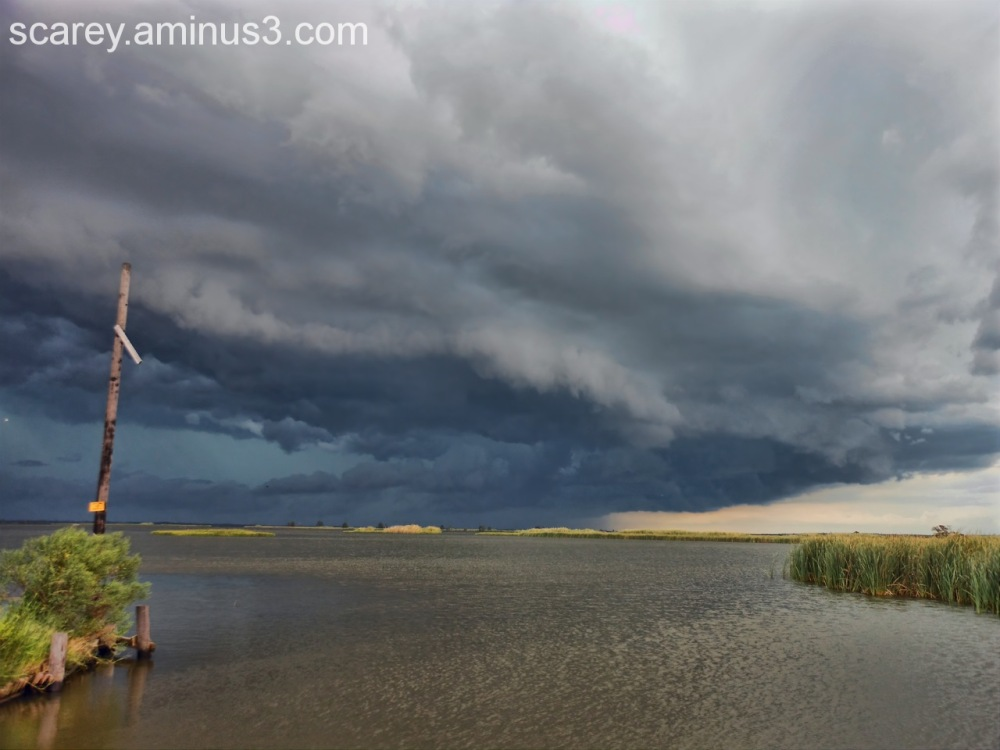 Severe storm over Mobile Bay, Alabama