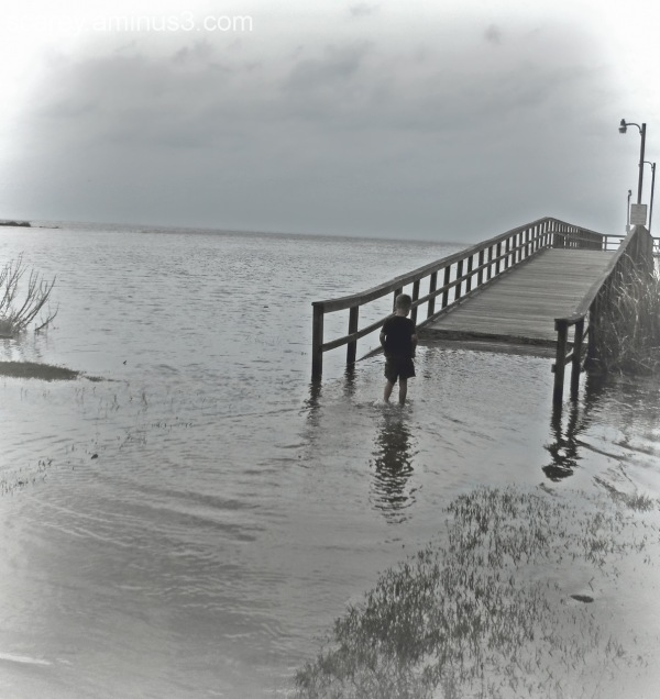 Storm surge enters Mobile Bay, Alabama