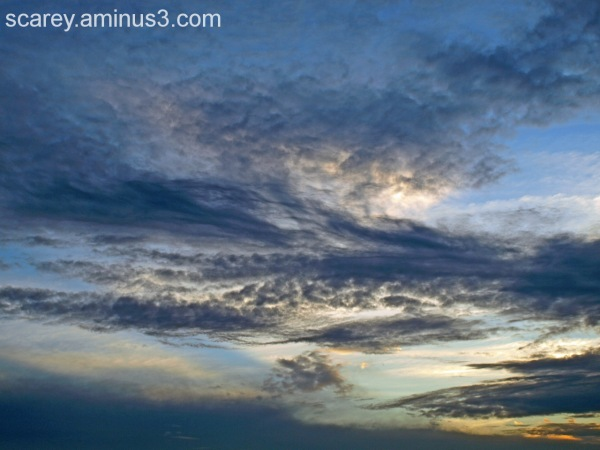 Clouds at sunset over Mobile Bay, Alabama