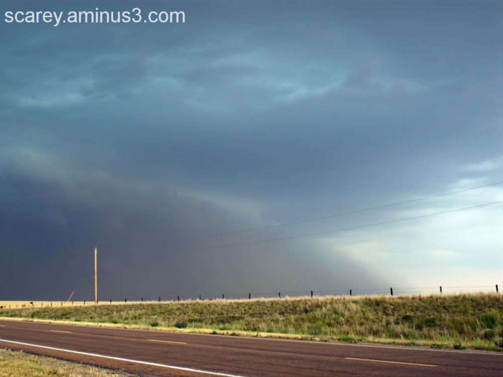 Haboob generated by supercell storm