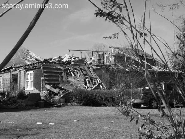 Tornado Damaged Home Mobile Alabama